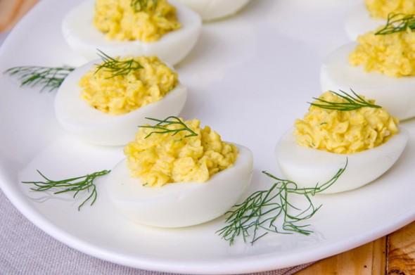 Яйца, фаршированные. Рецепт с фото.