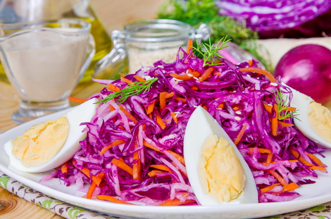 Салат с капустой и дайконом. Рецепт с пошаговым фото.