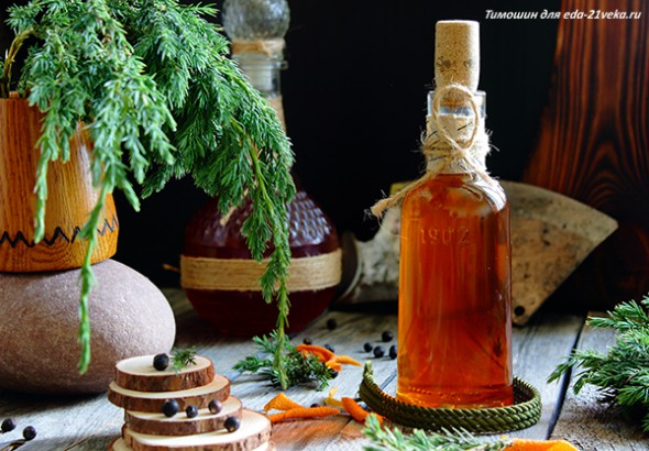 Настойка спирта на можжевеловых ягодах и цедре апельсина. Рецепт с фото.
